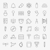 Line School and Education Icons Big Set Royalty Free Stock Photos