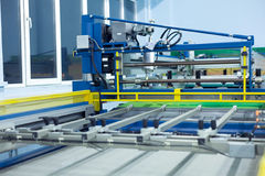 Line screen printing machine Royalty Free Stock Photo