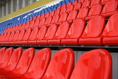 A line of seats Royalty Free Stock Images