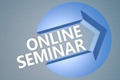On-line-Seminar Lizenzfreies Stockbild