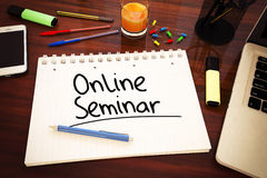 On-line-Seminar Stockfotos