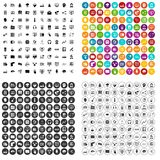 100 on-line seminar icons set vector variant. 100 on-line seminar icons set vector in 4 variant for any web design isolated on white Stock Image