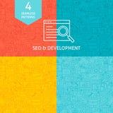 Line SEO Development Patterns Stock Photos