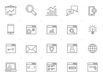 Line SEO and Development web icons. Vector icon set vector illustration