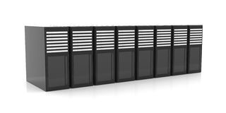 Line of Server Racks Royalty Free Stock Photography