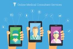 On-line service för medicinsk konsulent Royaltyfria Bilder