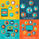 On-line services infographics background. Stock Photography
