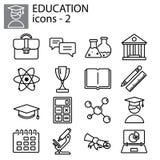Line set. Education university, science. Web line set. Education university, science Stock Images