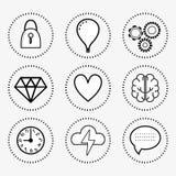 Line set icon mental health. Vector illustration royalty free illustration