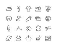 Line Sewing Icons Stock Photo