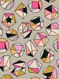 Line shapes crystal geometry. Diamonds design.  Stock Photos