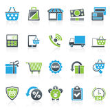 On line shop and E-commerce icons Royalty Free Stock Photo