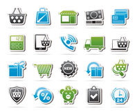 On line shop and E-commerce icons Royalty Free Stock Photography