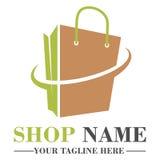 On-line-Shoplogo-Schablonendesign Lizenzfreies Stockfoto