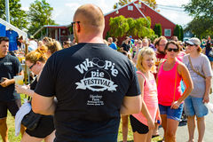 Line of Shoppers at the Whoopie Pie Festival Royalty Free Stock Photos