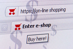 On-line shopping Stock Photos