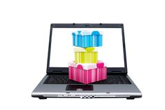 On-line shopping Stock Images