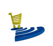 On-line shopping Stock Image