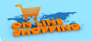 On line shopping Royalty Free Stock Image