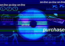 On line shopping. To promote an easy buying on line 7/7 days , 24/24 hours Stock Photo