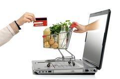 On-line shopping Fotografering för Bildbyråer