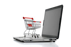 On-line shopping arkivbild