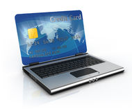 On line shopping 3d concept Stock Image