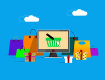 On line shopping banner Stock Images