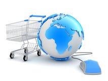 On-line shopping - begreppsillustration Fotografering för Bildbyråer
