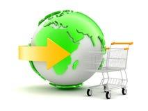 On-line shopping - begreppsillustration Royaltyfria Foton