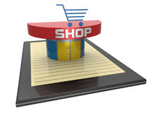 On-line shopping Royalty Free Stock Photos