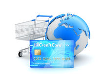 On-line shopping - concept illustration Stock Photography