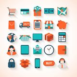 On-line shopping infographic background. Stock Photo