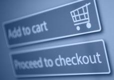 On-line shopping Royaltyfria Bilder