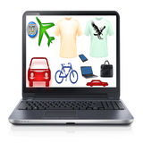On-line shopping Royalty Free Stock Photo