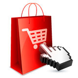 On-line shoppingbegrepp Arkivbild