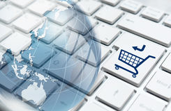 On-line shoppingbegrepp Royaltyfria Bilder