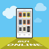On-line shoppingbegrepp Royaltyfri Foto