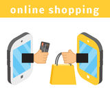 On-line shoppingbegrepp Arkivfoto