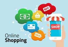 On-line shoppingbegrepp Royaltyfri Foto