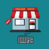 On-line-Shopverkaufskonzept Lizenzfreies Stockfoto