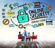 On-line-Sicherheits-Passwort-Informations-Schutz-Privatleben-Internet Lizenzfreie Stockfotos