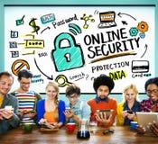 On-line-Sicherheits-Passwort-Informations-Schutz-Privatleben-Internet Lizenzfreies Stockfoto