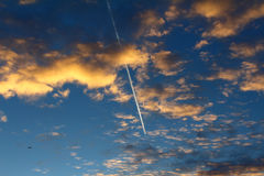 Line in the sky Royalty Free Stock Photos
