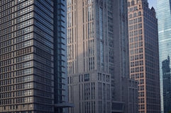 The line of skyscrapers Royalty Free Stock Photos