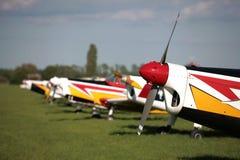 Line of smalle planes Stock Photo