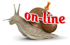 On-line Snail (clipping path included) Stock Photos