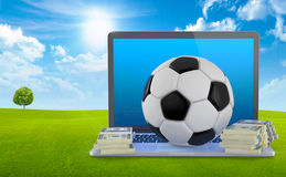 On Line Soccer Betting Concept. Royalty Free Stock Image