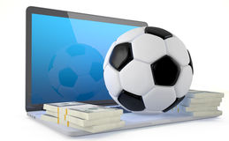 On Line Soccer Betting Concept. Stock Photos