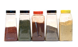 Line of Spices Royalty Free Stock Photography